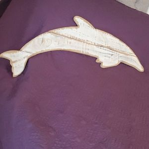 Wooden Dolphin Wallart 🐬